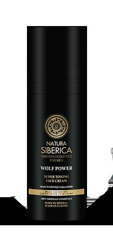 Naturalny, tonizujący krem do twarzy dla mężczyzn Wolf Power, Natura Siberica Men